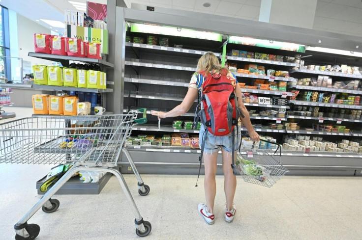Lack of UK supermarket supply.