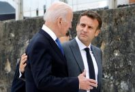 Joe Biden, Emmanuel Macron