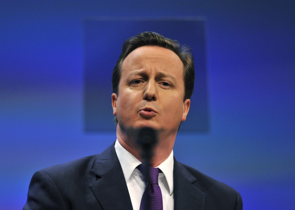 Prime Minister Cameron delivers his keynote speech