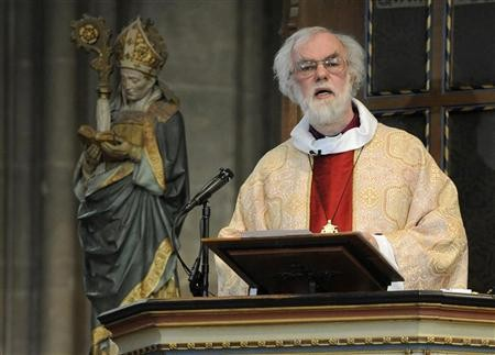 Britain's Archbishop of Canterbury Rowan Williams