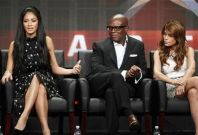 Nicole Scherzinger (L), L.A. Reid (C), and Paula Abdul, judges on new talent show 'The X Factor'.