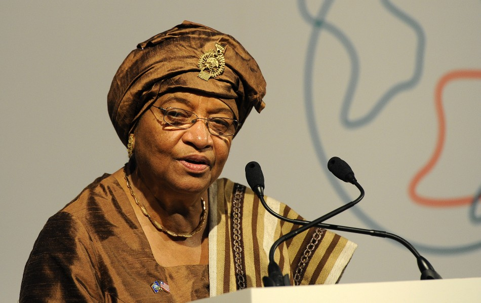 President of Liberia, Ellen Johnson-Sirleaf speaks at the Global Alliance for Vaccines and Immunisation conference in London