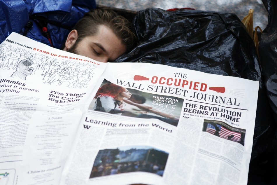 Occupy Wall Street Campaign photos - 07 Oct 2011 9