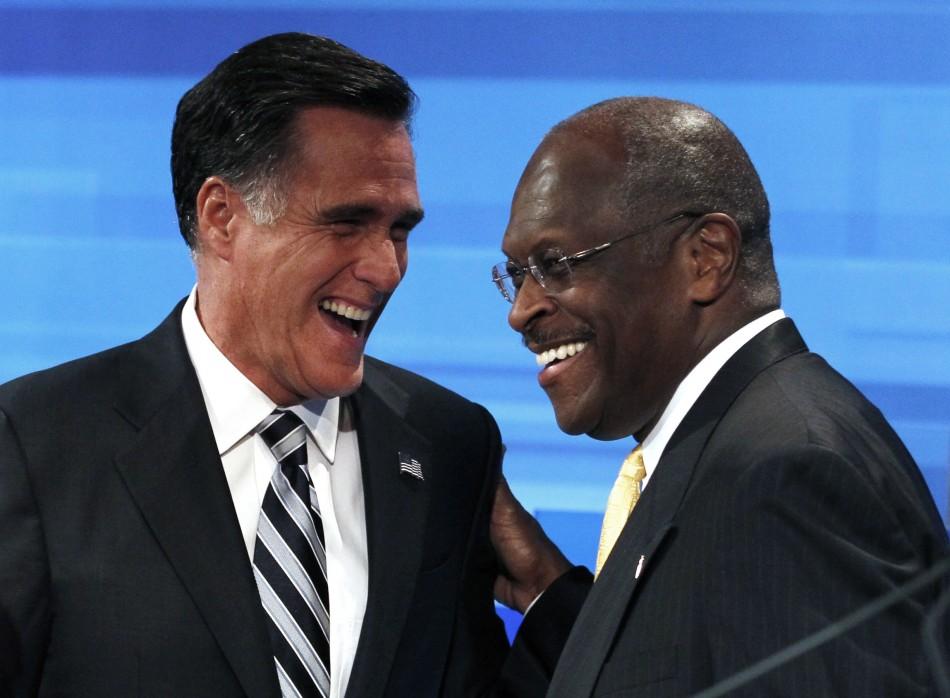 Mitt Romney and Herman Cain