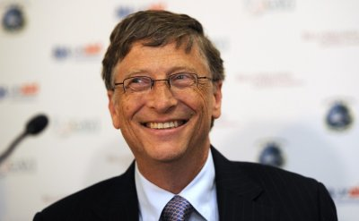 US business magnate Bill Gates is the CEO of IT giant Microsoft. He is also Co-Chair of the Bill  Melinda Gates Foundation, CEO of Cascade Investment and Chairman of Corbis. As of 2011, his net worth has been estimated at 59 billion.