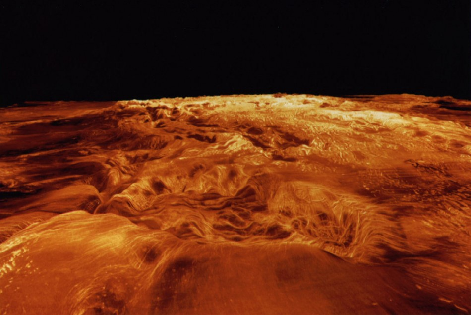 Surface of the planet Venus