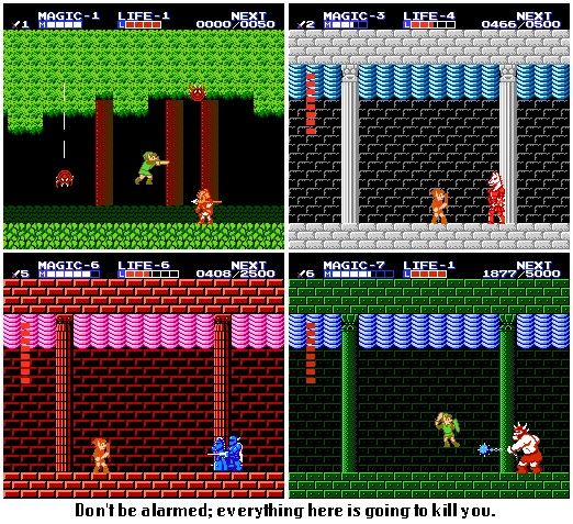 10. Zelda II The Adventure of Link