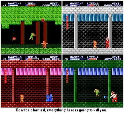 10. Zelda II The Adventure of Link