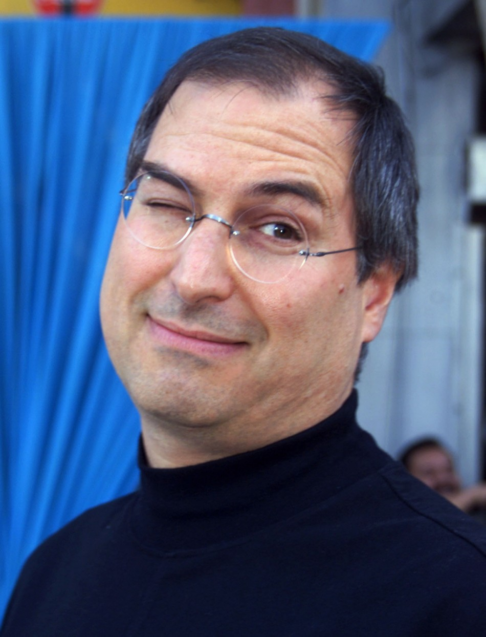 """Steve Jobs, CEO of Pixar, poses at the premiere of the new computer animated film """" Toy Story 2"""" Nov.."""