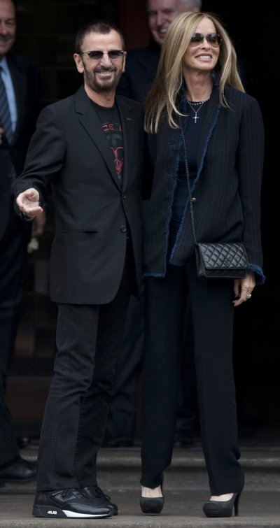 Ringo Starr and his wife Barbara arrive for Paul McCartneys wedding to Nancy Shevell at Old Marylebone Town Hall in London