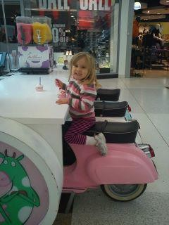 Chris White was interrogated by police for taling this picture of his daughter eating ice cream in Braehead.