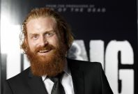 "Cast member Kristofer Hivju poses at the world premiere of ""The Thing"" at Universal Studios Hollywood in Universal City, California"