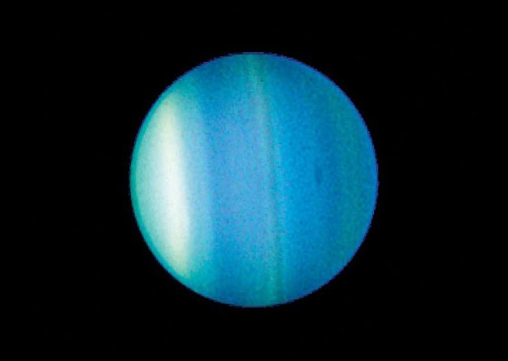 Hubble image of the planet Uranus.