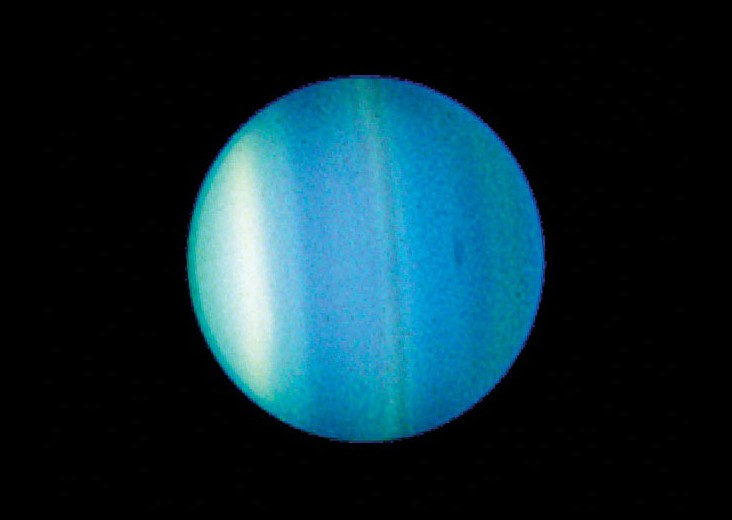 Hubble image of the planet Uranus.