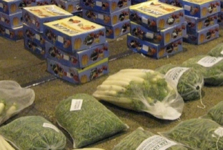 Drug inside the vegetable