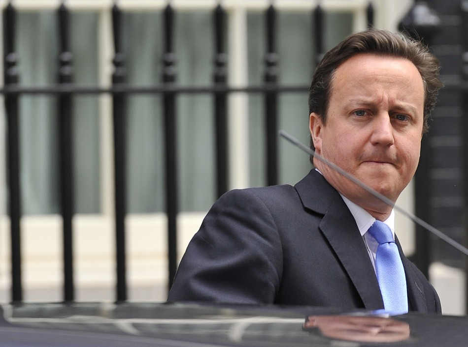 David Cameron leaves for the Commons to face questions from MPs