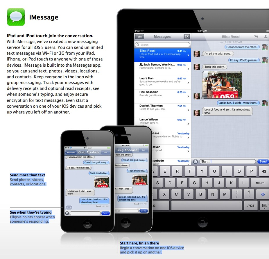 iMessageiChat is now Messages