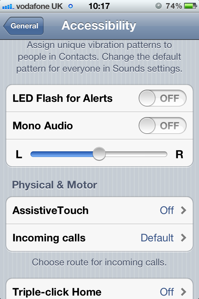 Many alerts are available for accessibility