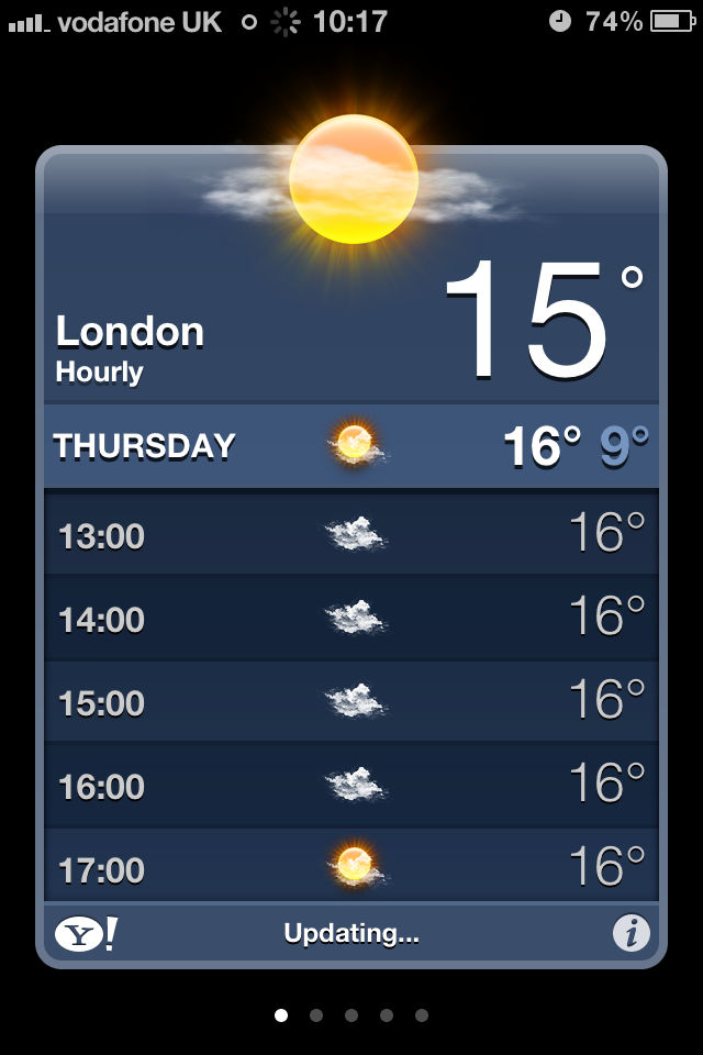 iOS 5 brings local weather to iPhones