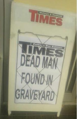Dead Man Found in Graveyard