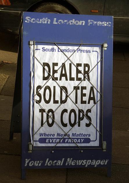 Dealer Sold Tea to Cops