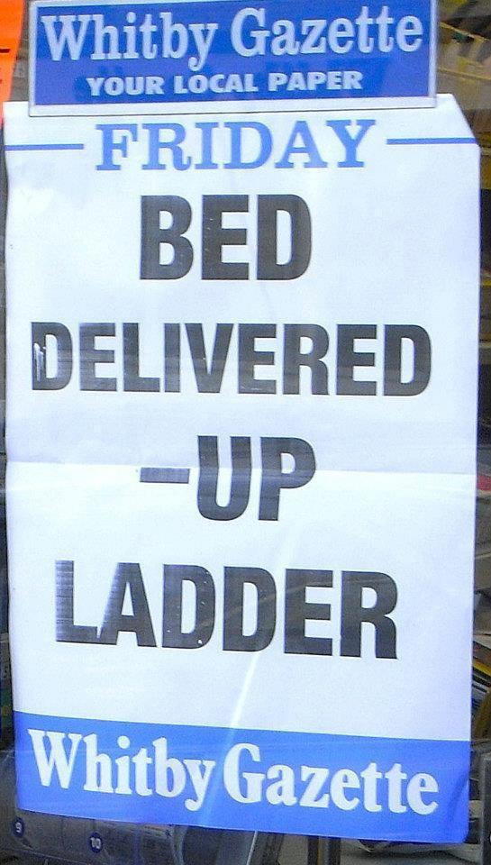 Bed Delivered - Up Ladder