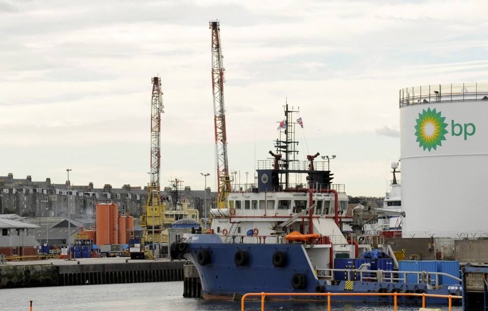 The Aberdeen docks in Aberdeen, Scotland, in seen in this September 25, 2009 file photo.