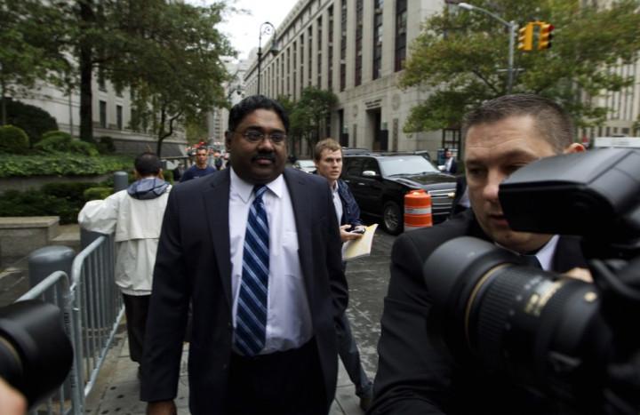 Galleon hedge fund founder Raj Rajaratnam arrives at Manhattan Federal Court in New York
