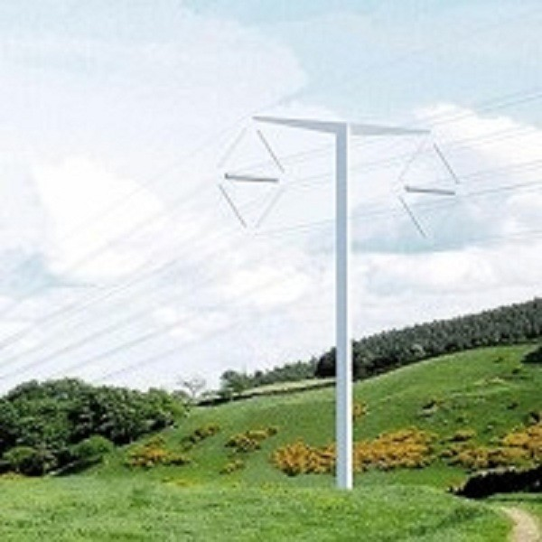 Danish company Bystrup has won a contest to find a new look for electricity pylons with its innovative T-Pylon design