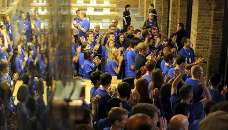 Applauding staff in Covent Garden