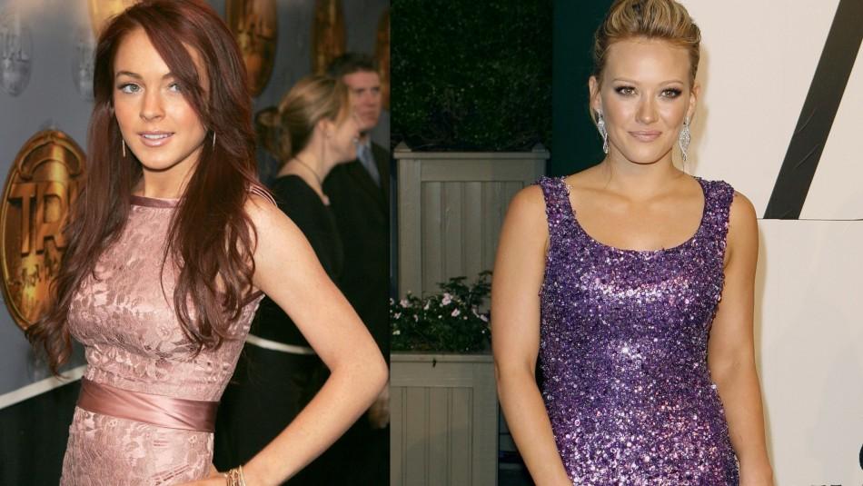 Lindsay Lohan and Hilary Duff