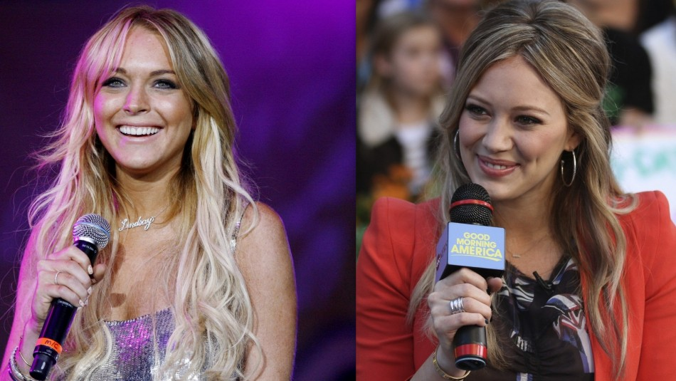 Lindsay Lohan and Hilary Duf