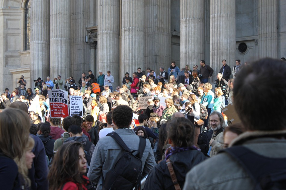 Occupy London Exclusive Photos Chronicling the Opening Hour of the Protest