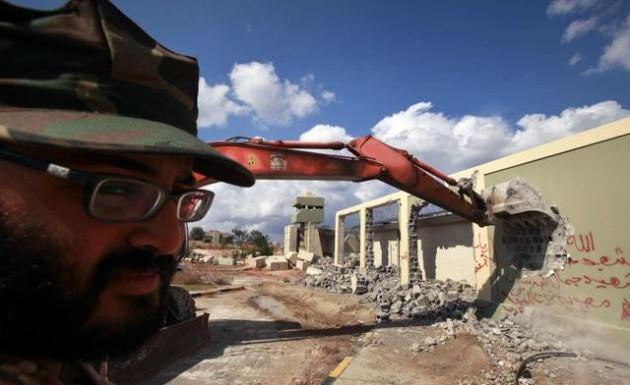 Gaddafi's former compound