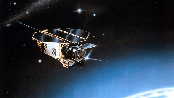 ROSAT satellite re-entry