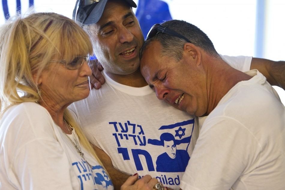 Israelis in Mitzpe Hila react after seeing Gilad Shalit on TV