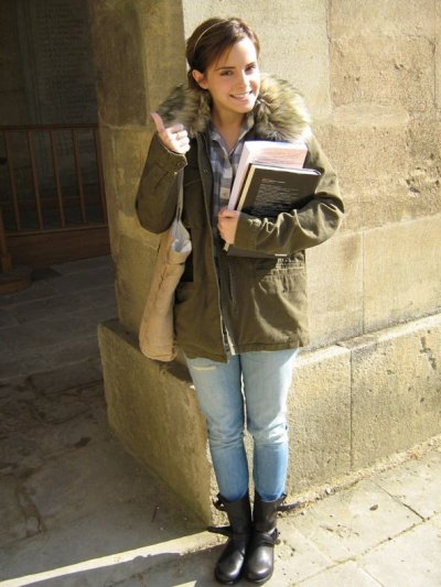Emma Watson poses during her first term at UKs oxford University. Photo