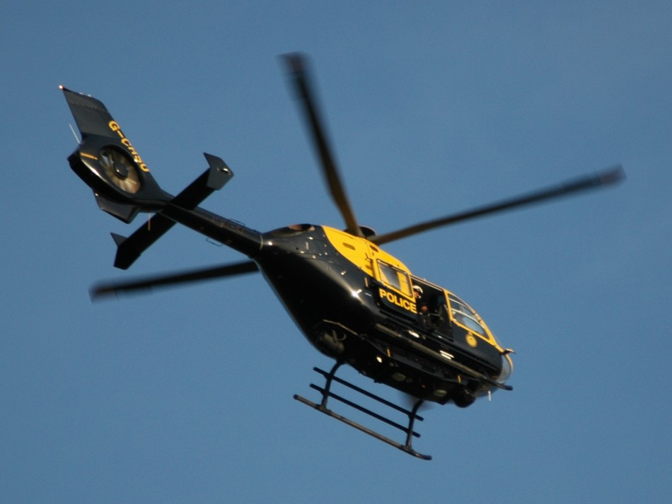 Police Helicopter was endangered by green laser pointer in Luton