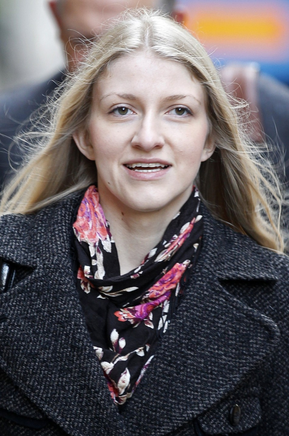 Katia Zatuliveter walks to an immigration hearing in London
