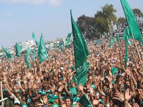 Hamas rally in Gaza.