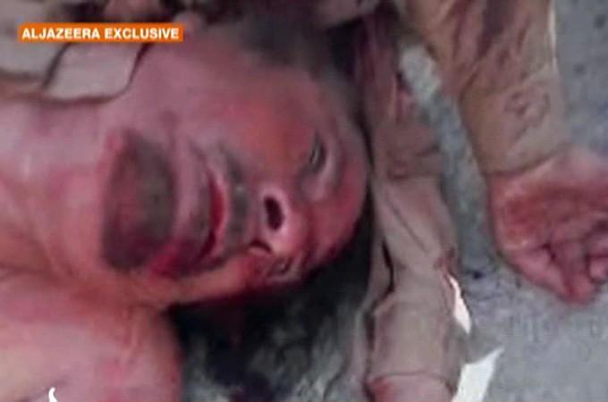 Muammar Gaddafis body