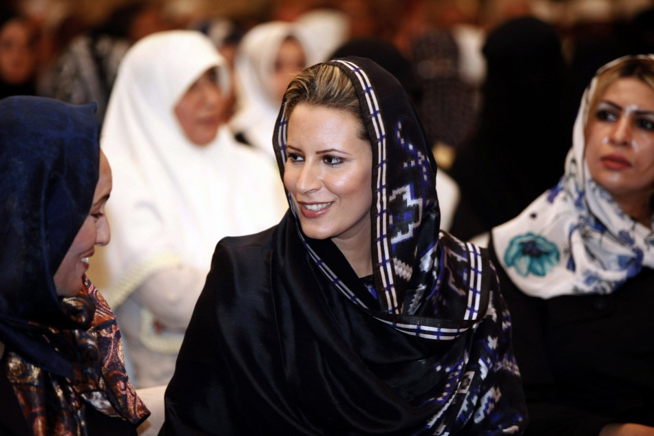 Aisha Gadhafi attends the end of the 6th international womens Koran reading in Tripoli