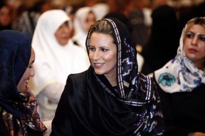 Aisha Gadhafi attends the end of the 6th international womens Koran reading in Tripoli