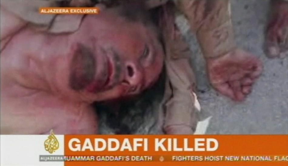 Frame grab shows former Libyan leader Muammar Gaddafi in Sirte