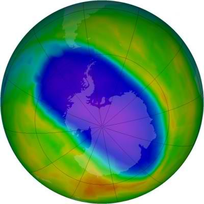 NASA OMI Image of the Ozone Hole