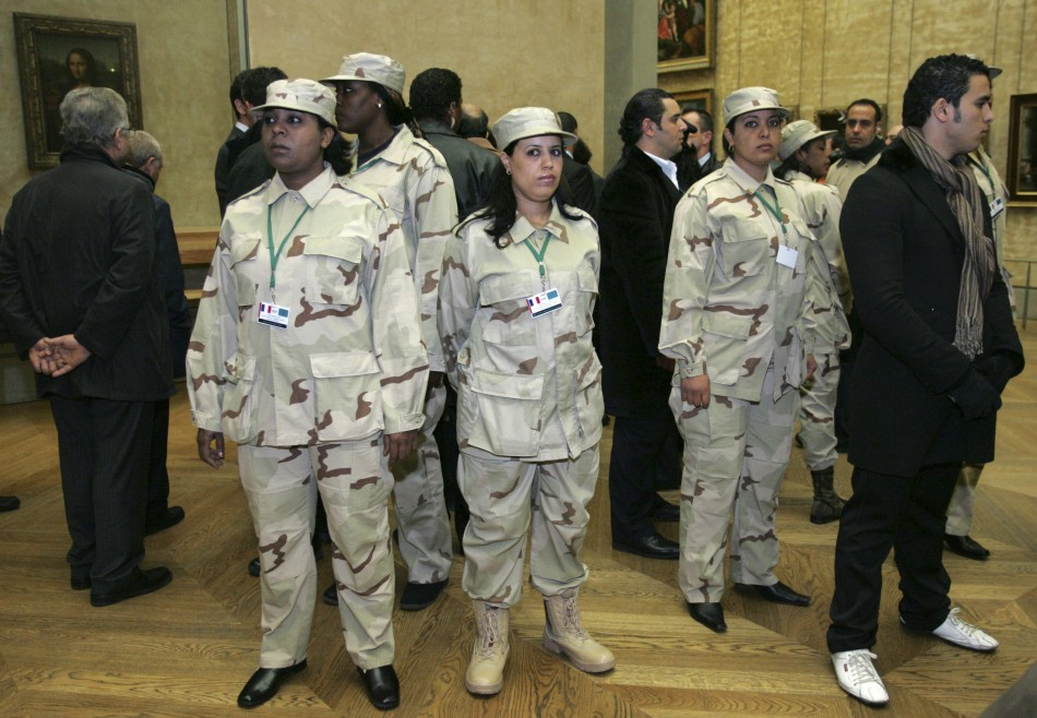 Gadhafi and Female Bodyguards