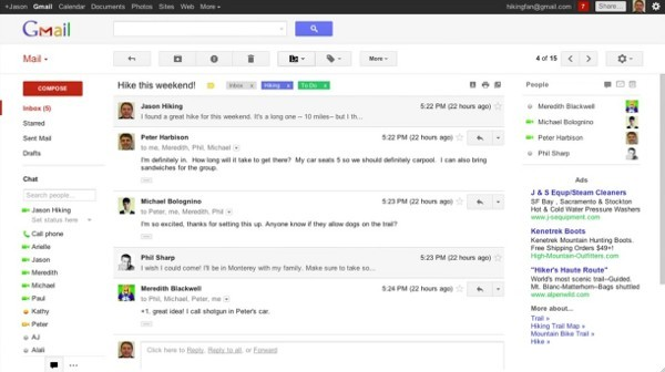 New Gmail design leaked by Google