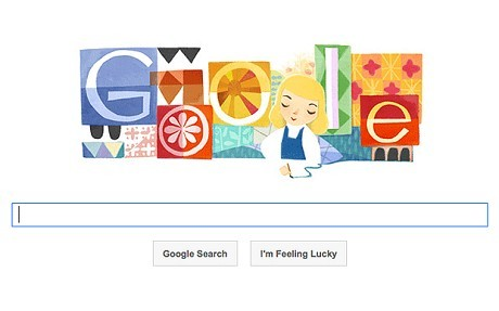 Google's Tribute to Mary Blair