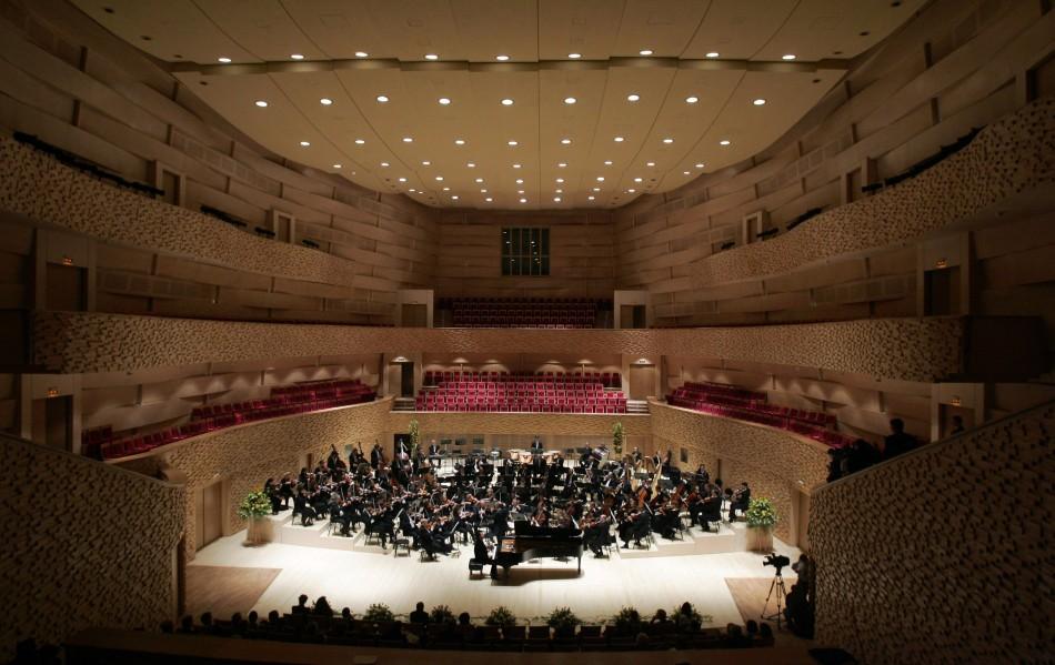 General view of the Mariinsky Theatre new concert hall in St. Petersburg