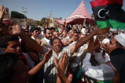Gadhafis Death Celebration in Libya